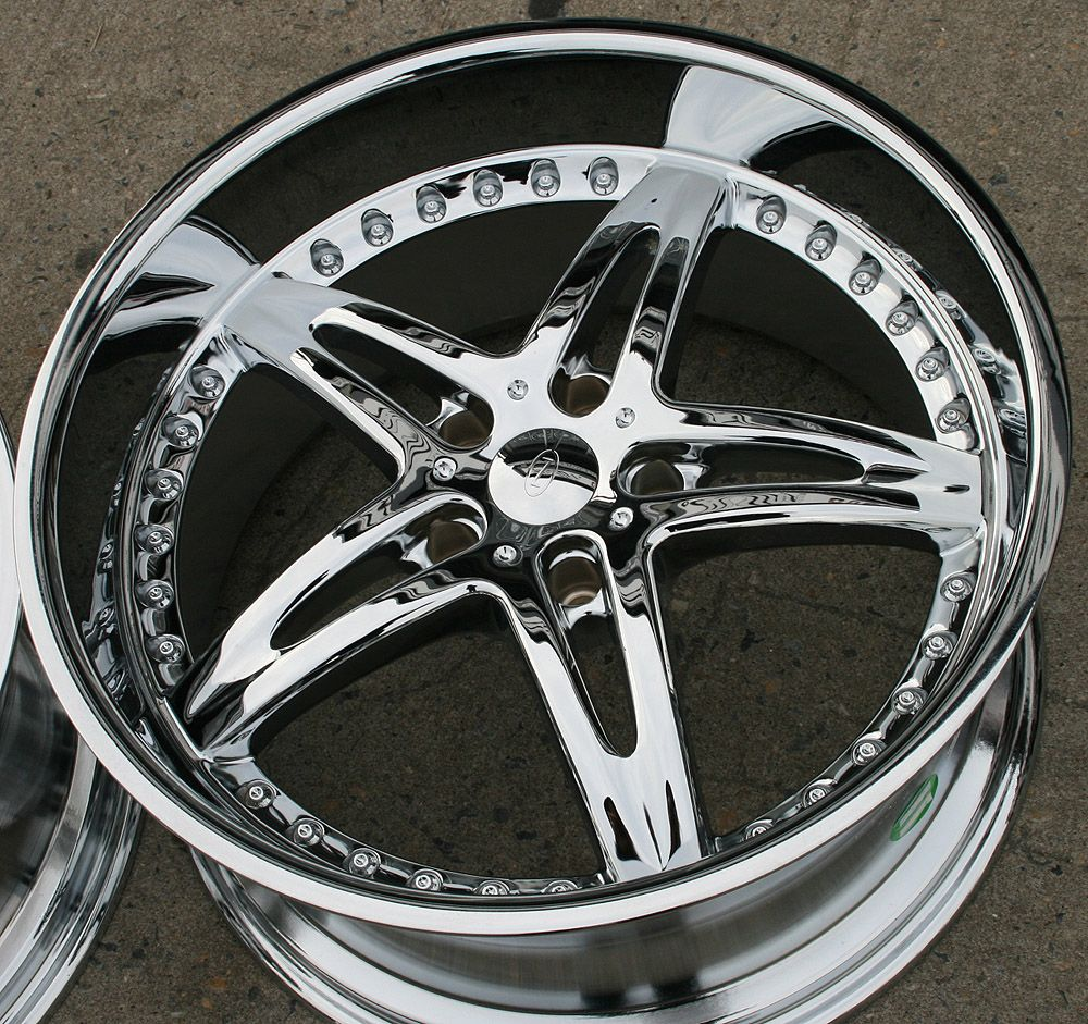Niche Moxy 20 Chrome Rims Wheels BMW E39 E60 5 Series Staggered